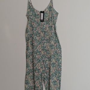 Nasty gal palm print lightweight jumpsuit